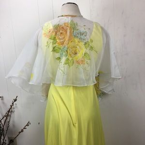 Vintage Dresses - One Dress/Three Ways - Vintage Yellow Formal Dress
